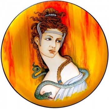 Cleopatra Yellow- Wall Plate 50cm