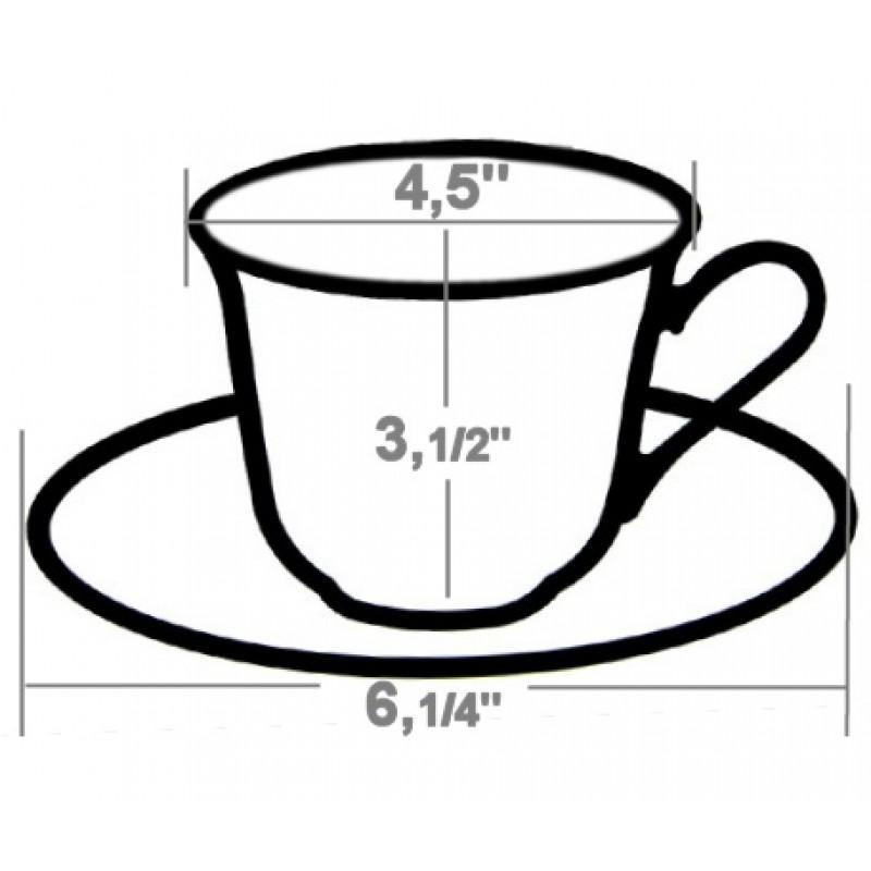 CS06 Tea Cup & Saucer