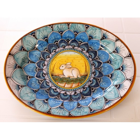 "OVAL38 110 - OVAL 15"" BLUE RABBIT"