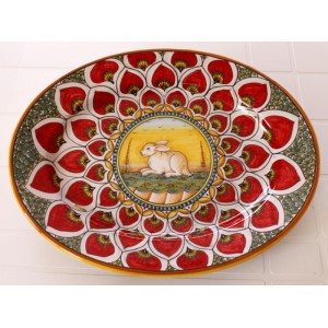 """OVAL38 111 - OVAL 15"""" RED RABBIT"""