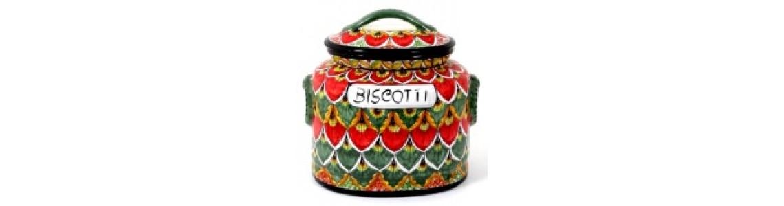 Oval Biscotti Jar